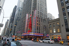 NYC Radiowa Miasta Hala Koncertowa Fotografia Stock
