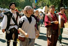 NYC: Re-enactors at Renaissance Faire Stock Photography