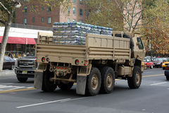 NYC Relief Effort after Superstorm Sandy Royalty Free Stock Photos