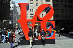 NYC: Robert Indiana's Love Sculpture Stock Images