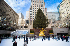 NYC Rockefeller Center Christmas Royalty Free Stock Images
