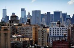NYC: Środka miasta Manhattan linia horyzontu Zdjęcia Royalty Free