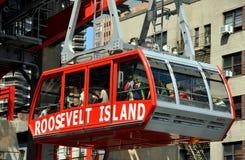 NYC: Roosevelt-Insel-Förderwagen Stockfoto