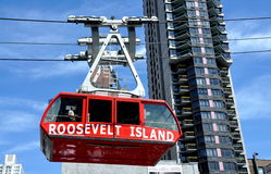 NYC: Roosevelt Island Tram in Transit Royalty Free Stock Photos