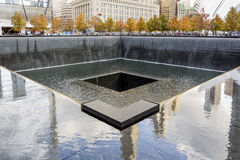 NYC-` s 9 Denkmal 11 am World Trade Center-Bodennullpunkt Stockbilder