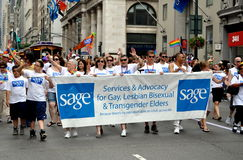 NYC: SAGE Contingent at Gay Pride Parade Royalty Free Stock Images