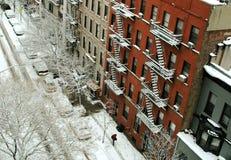 nyc sceny bocznej ulicy wierzch zachodni Obraz Stock