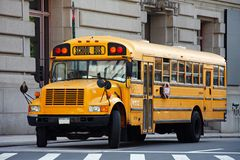 NYC school bus Royalty Free Stock Photos