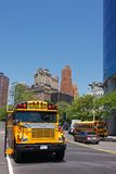 NYC school bus Royalty Free Stock Image