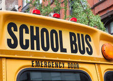NYC school bus Stock Photo