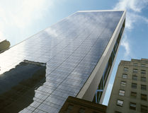NYC - se upp Arkivbild