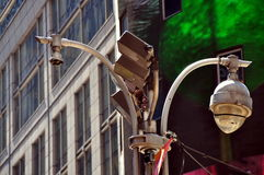 NYC: Security Cameras in Times Square Stock Image