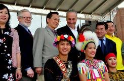 NYC: Senator Charles Schumer przy Tajwańskim festiwalem Zdjęcia Stock