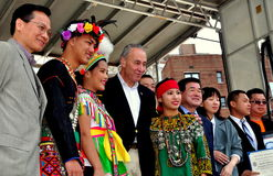 NYC:  Senator Charles Schumer at Taiwanese Festival Stock Photography