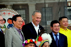 NYC:  Senator Charles Schumer at Taiwanese Festival Stock Photos