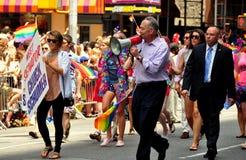 NYC: Senator Chuck Schumer at Gay Pride Parade Royalty Free Stock Photo