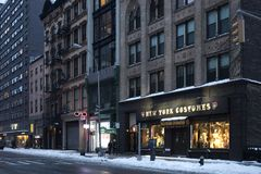 NYC Shops and Bars in Manhattan stock photography