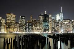 NYC-sikter från Booklyn Royaltyfria Bilder