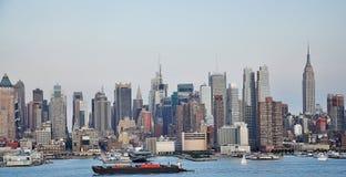 NYC skyline. A wide shot of new York city skyline Royalty Free Stock Photography