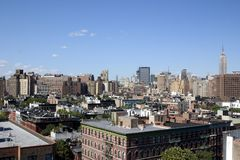 NYC Skyline. View of NYC from Greenwich Village Royalty Free Stock Photography