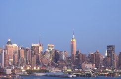 NYC Skyline 2. NYC Skyline with Empire State Building royalty free stock images