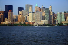 NYC Skyline. New York City Skyline across the NYC harbor Royalty Free Stock Photo