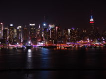 NYC Skyline. At Night Stock Images