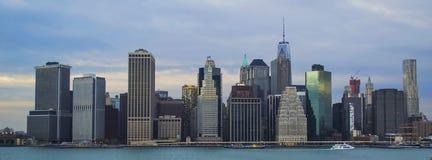 NYC skyline2 Foto de archivo libre de regalías
