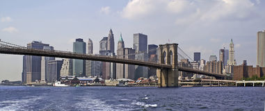 NYC SKYLINE 73. New York City - view from the river Royalty Free Stock Images