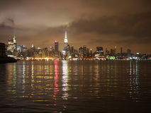 NYC skyline. As viewed from Hoboken New Jersey Stock Image