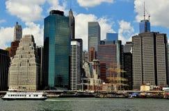 NYC: Skyline des Lower Manhattan Lizenzfreies Stockbild