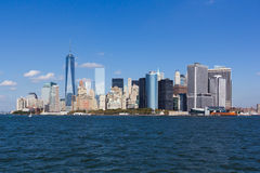 Nyc skyline financial district Stock Photography