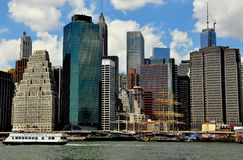 NYC: Skyline of Lower Manhattan Royalty Free Stock Image