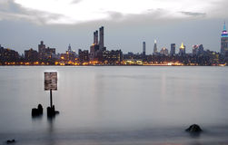 Nyc skyline over the hudson river Stock Image