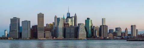 NYC skyline panorama royalty free stock photography
