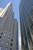 NYC Skyscrapers. Skyscrapers located in the financial district of NYC stock images