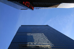 NYC skyscrapers against a blue sky Stock Photography