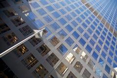 NYC-skyskrapafasad Arkivbild