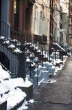 NYC after snow storm Stock Photos
