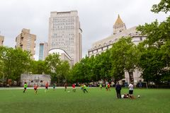 NYC - Soccer In The City Royalty Free Stock Image