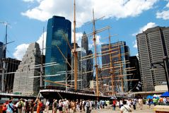 NYC: South Street Seaport & Peking Ship Stock Photos