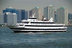 NYC: Spirit Cruise Ship on the Hudson River Royalty Free Stock Photo