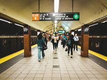 NYC stacja metru obrazy stock