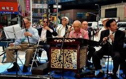 NYC: Starszego Obywatela chińczyka orkiestra zdjęcie stock