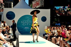 NYC:  Starz Cable TV Times Square Fashion Show Stock Photo
