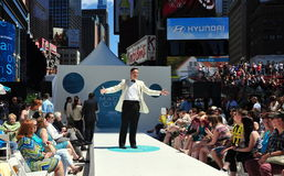 NYC: Starz TV Network Times Square Fashion Show Stock Image