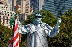 NYC : Statue de pantomime de liberté Photographie stock