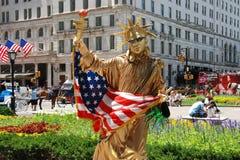 NYC: Statue of Liberty Mime Stock Photos