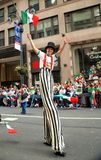 NYC: Stiltwalker at Mexican Parade Stock Photos