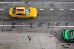 NYC-Straße über Ansicht Stockbild